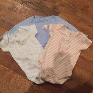 Lot of three Girls Onesies size newborn